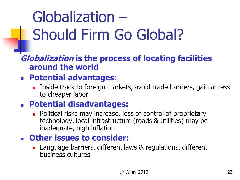 Globalization – Should Firm Go Global