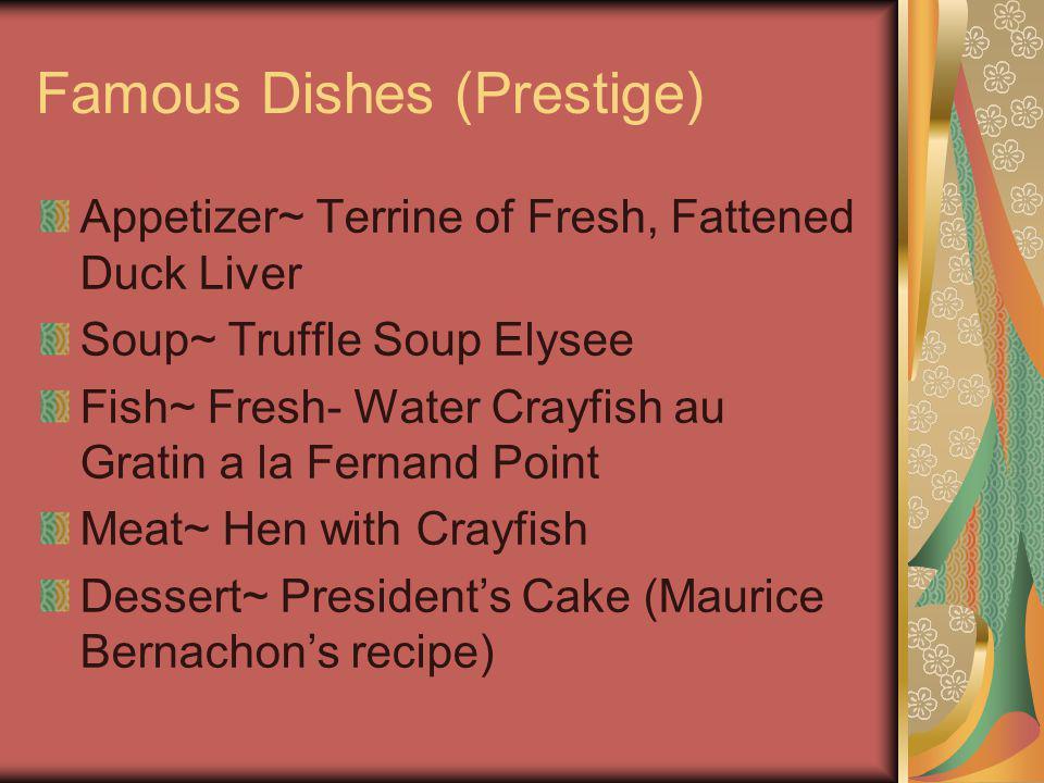 Famous Dishes (Prestige)