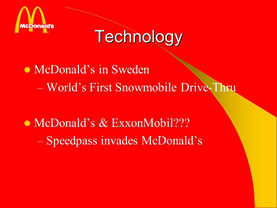 Technology McDonald's in Sweden World's First Snowmobile Drive-Thru