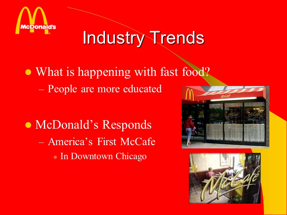 Industry Trends What is happening with fast food McDonald's Responds