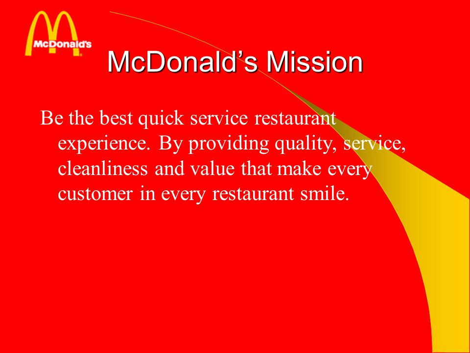 mcdonalds service quality Problems with food quality have also coincided with other trends that  and  chinese quick-service chains as consumers look at alternatives.