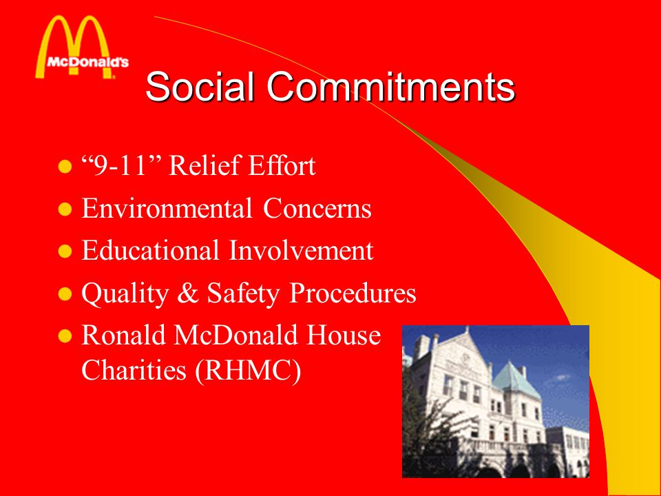 Social Commitments 9-11 Relief Effort Environmental Concerns