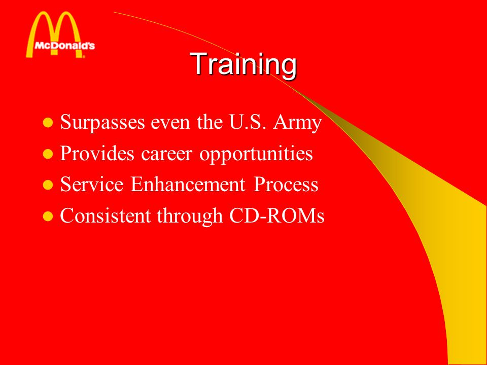 Training Surpasses even the U.S. Army Provides career opportunities