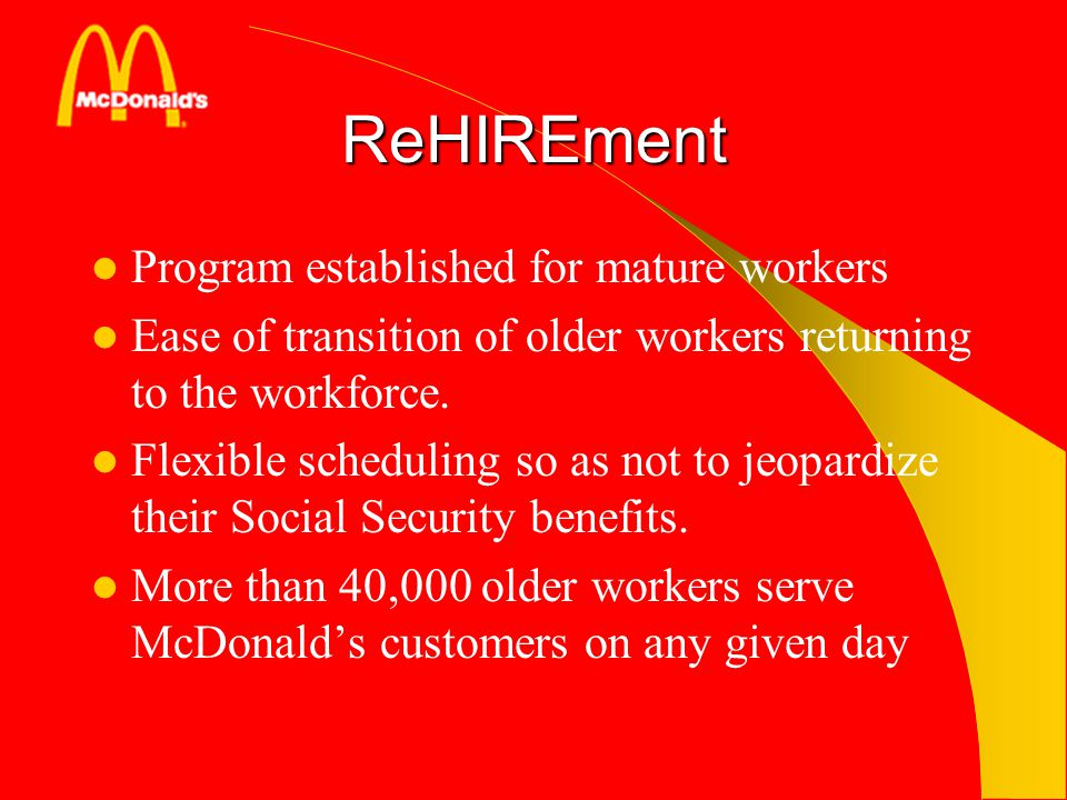 ReHIREment Program established for mature workers