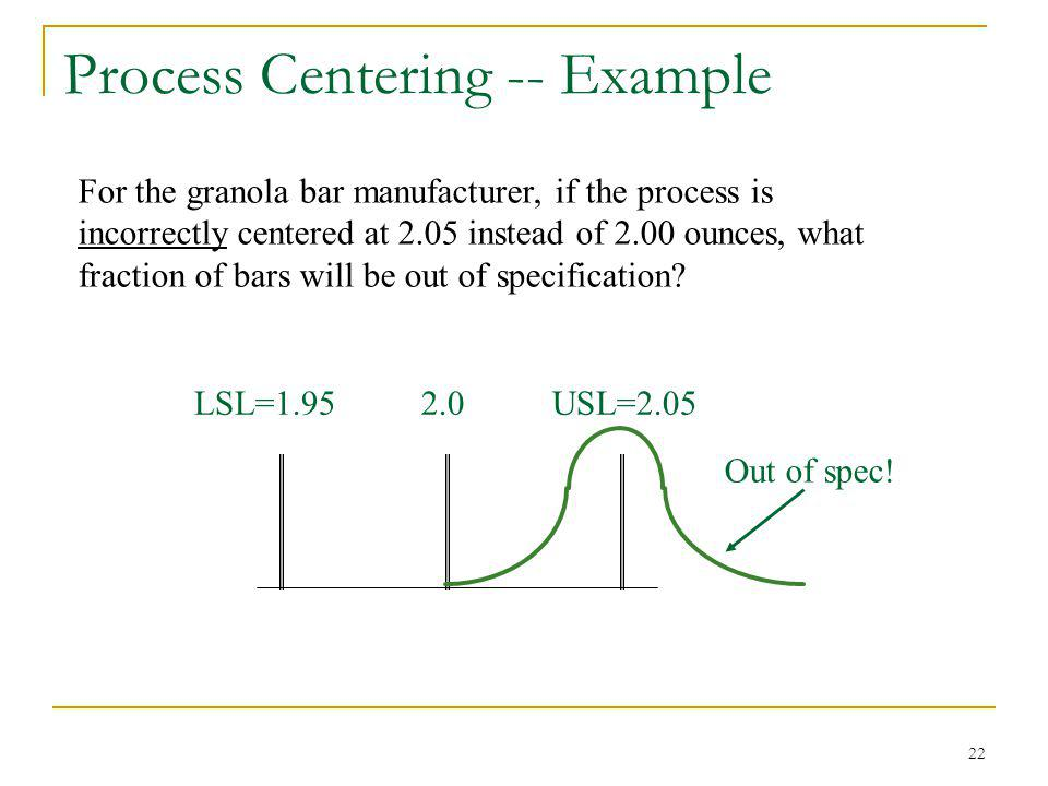 Process Centering -- Example