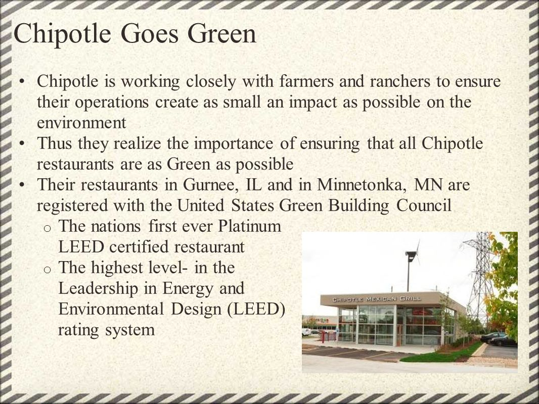 Chipotle Goes Green