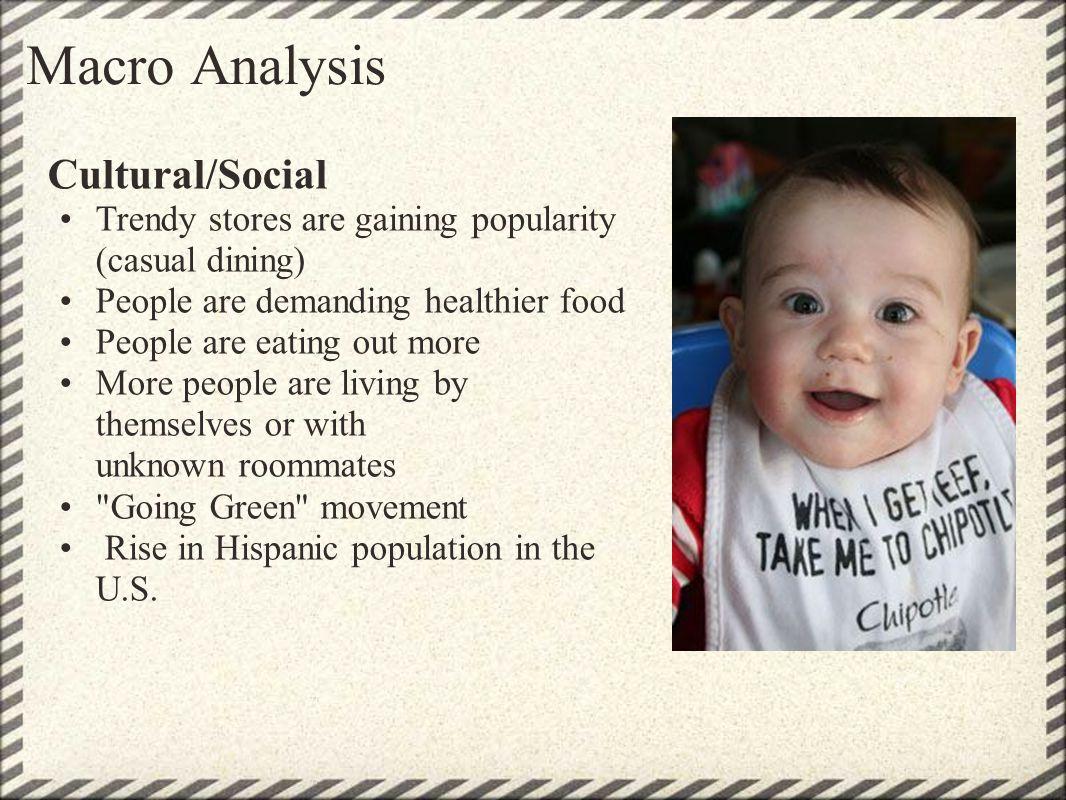 Macro Analysis Cultural/Social