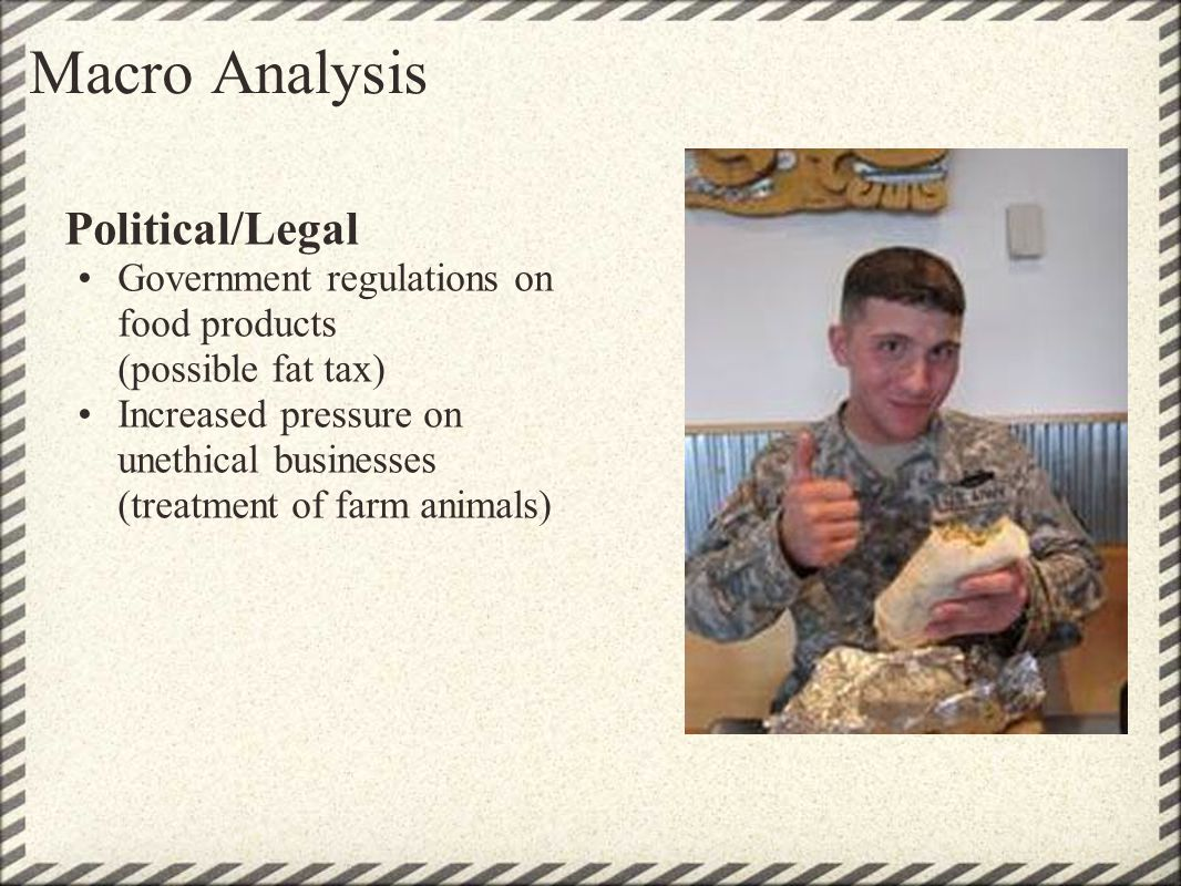 Macro Analysis Political/Legal