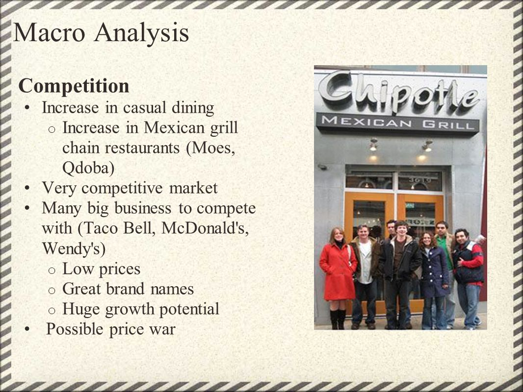 Macro Analysis Competition Increase in casual dining