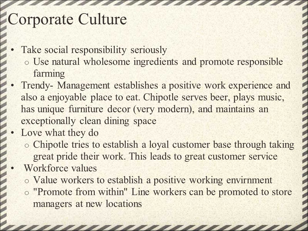 Corporate Culture Take social responsibility seriously