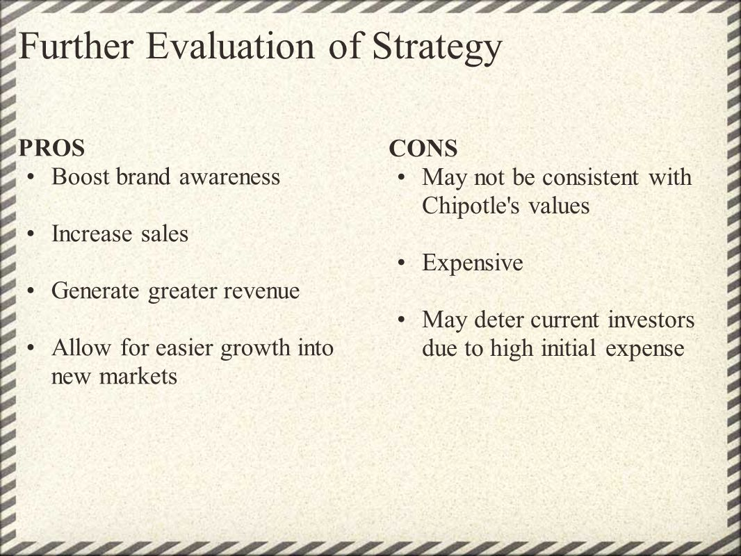 Further Evaluation of Strategy