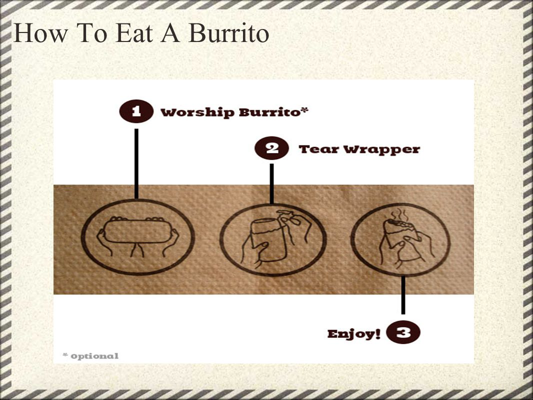 How To Eat A Burrito
