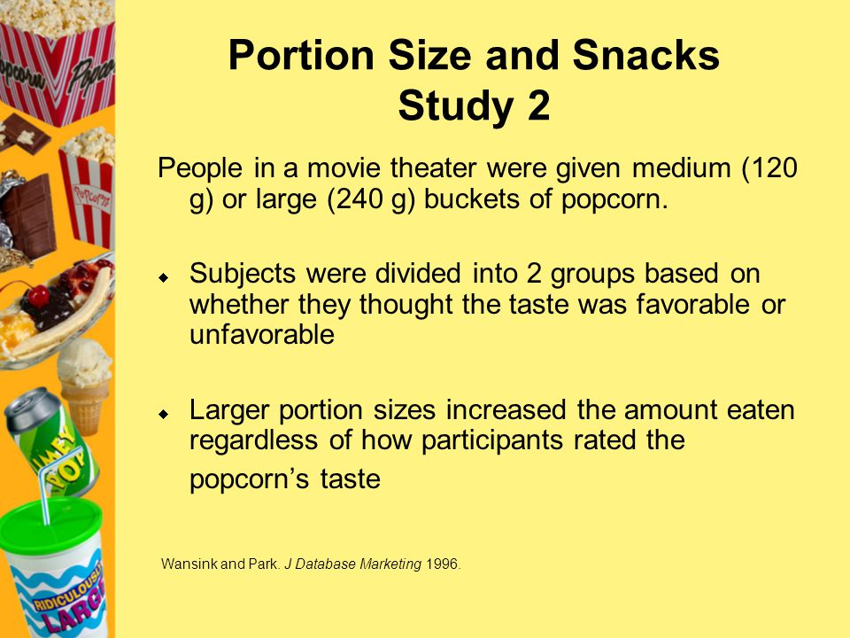 Portion Size and Snacks Study 2