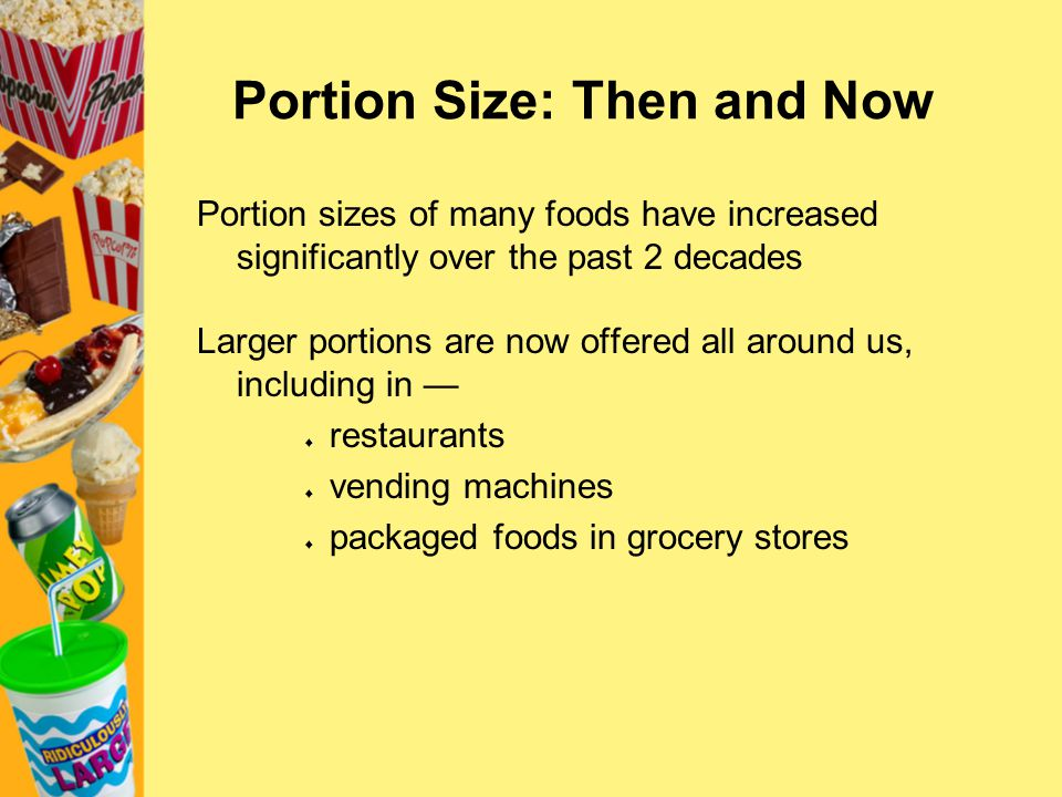 Portion Size: Then and Now