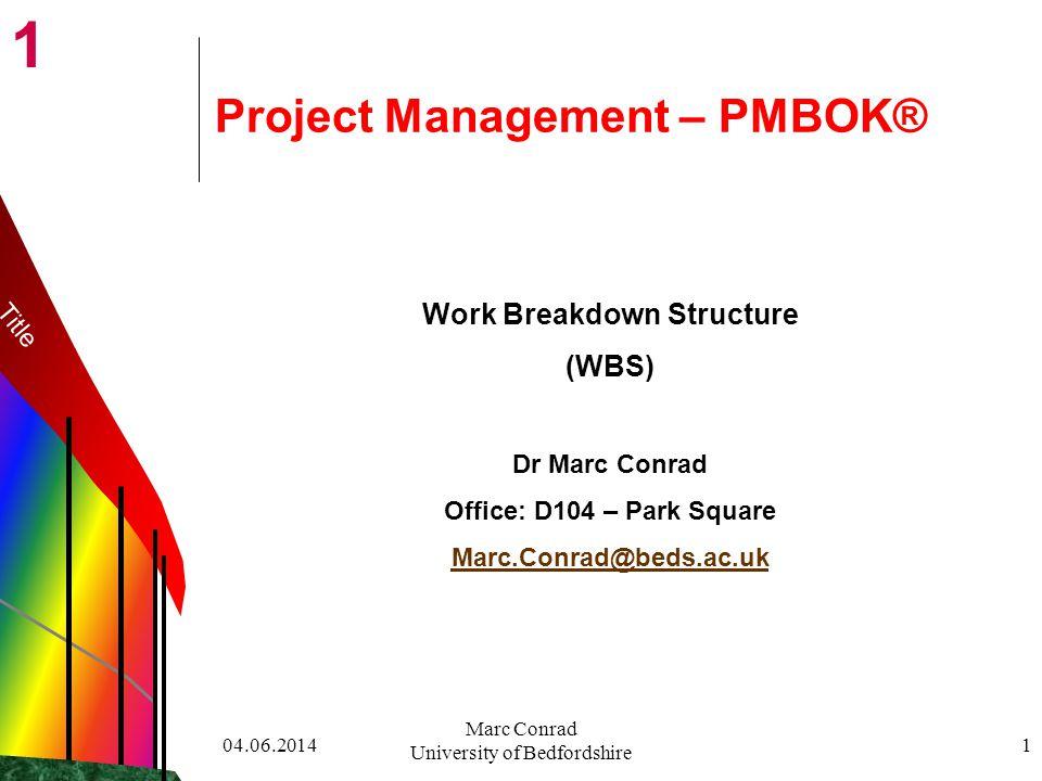 Project Management – PMBOK®