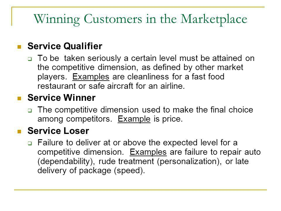 Winning Customers in the Marketplace