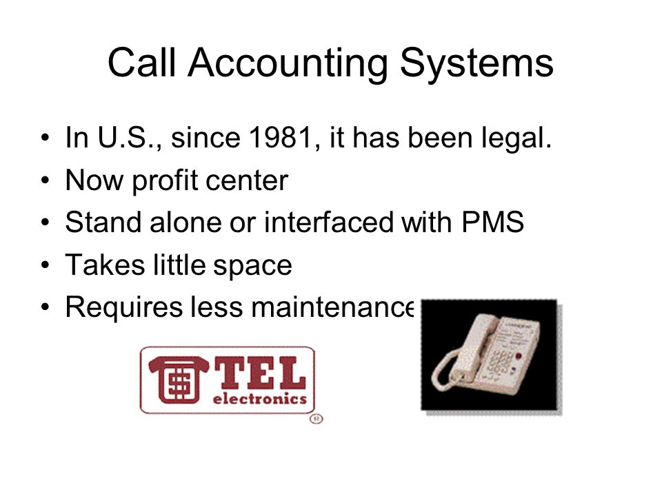 Call Accounting Systems