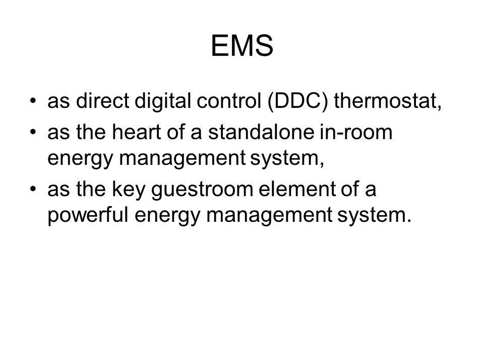 EMS as direct digital control (DDC) thermostat,
