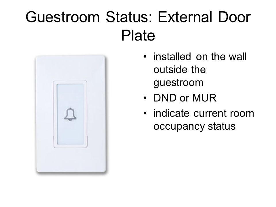 Guestroom Status: External Door Plate
