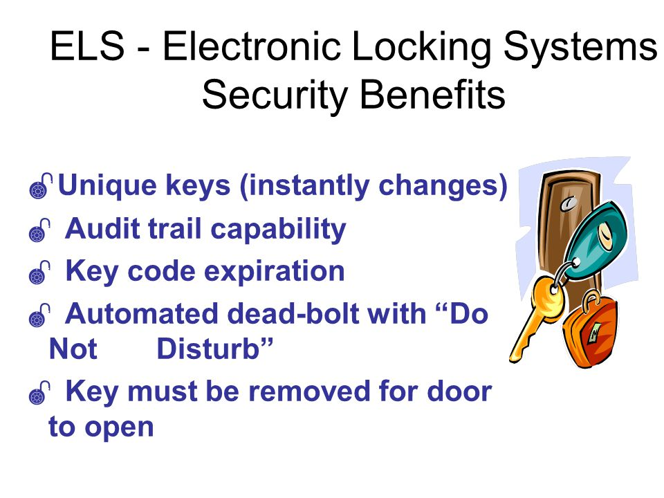 ELS - Electronic Locking Systems Security Benefits