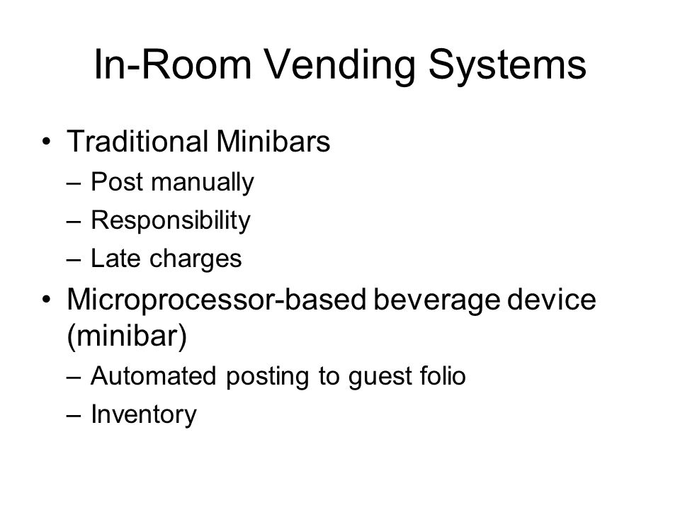 In-Room Vending Systems