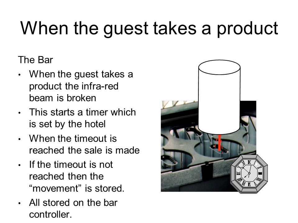 When the guest takes a product