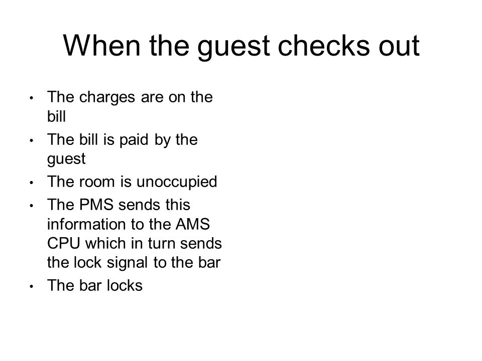 When the guest checks out