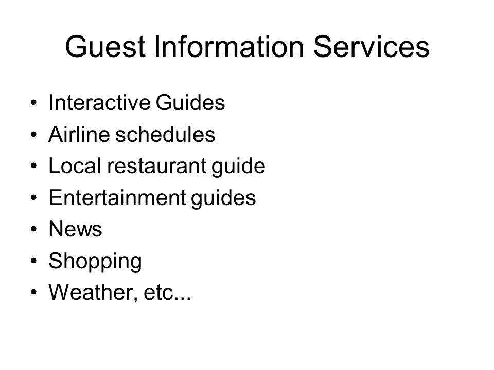Guest Information Services