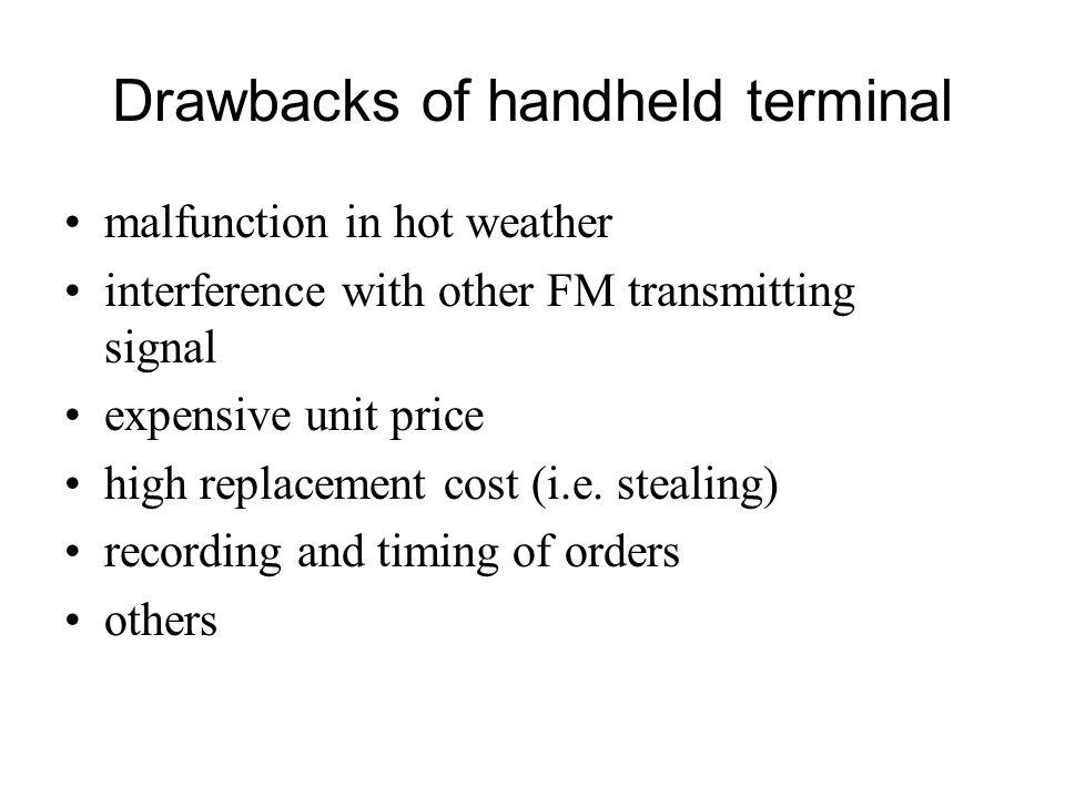 Drawbacks of handheld terminal