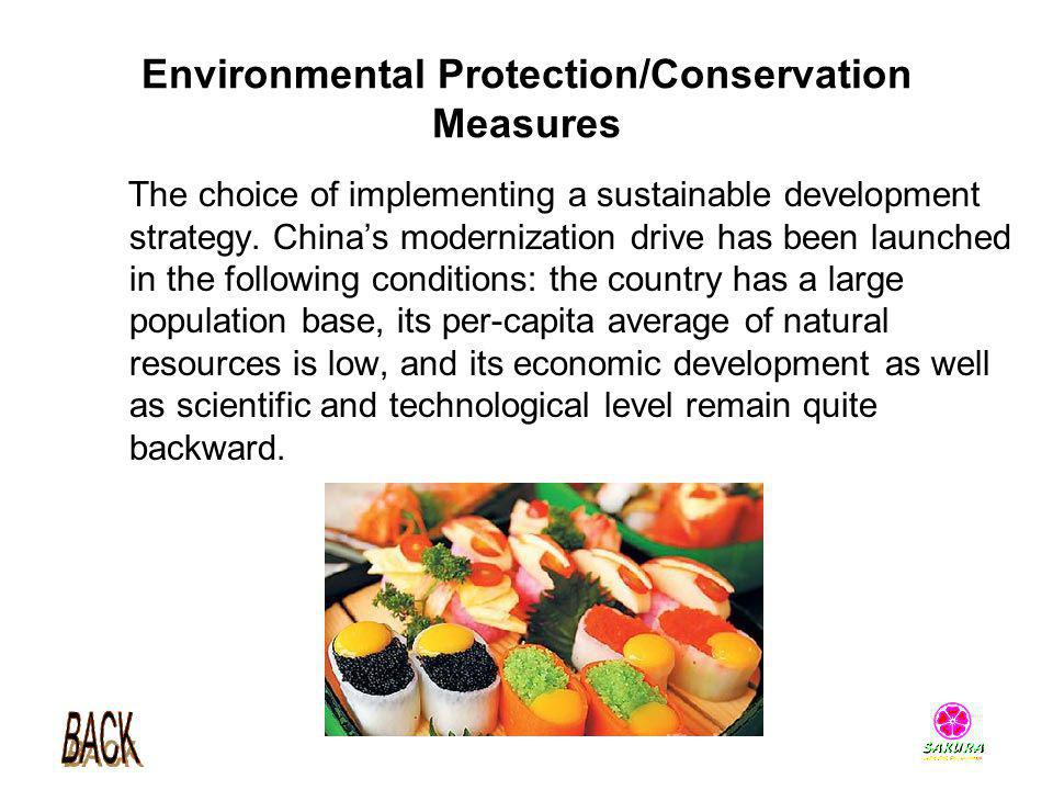 Environmental Protection/Conservation Measures