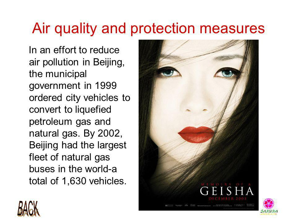 Air quality and protection measures