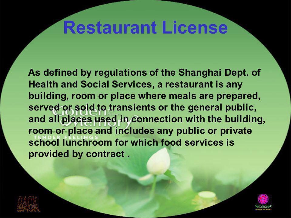 Restaurant License