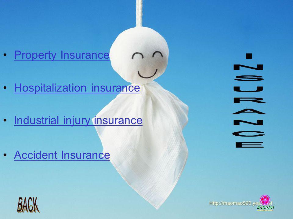INSURANCE Property Insurance Hospitalization insurance