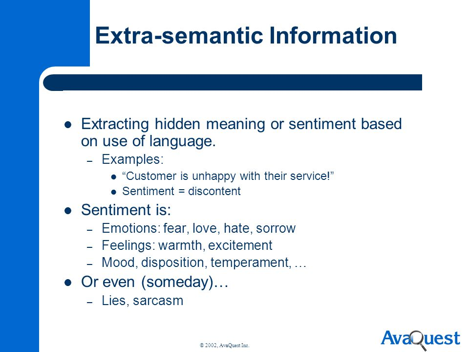 Extra-semantic Information