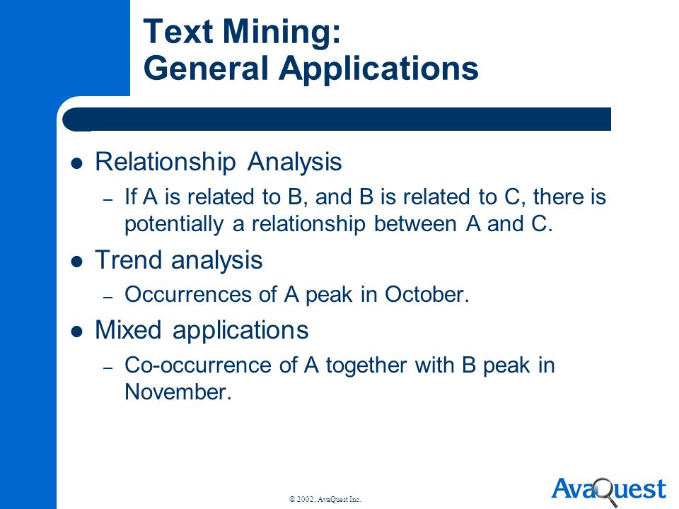 Text Mining: General Applications