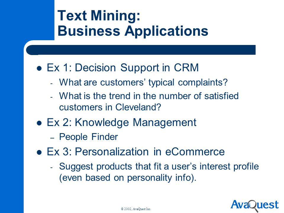 Text Mining: Business Applications
