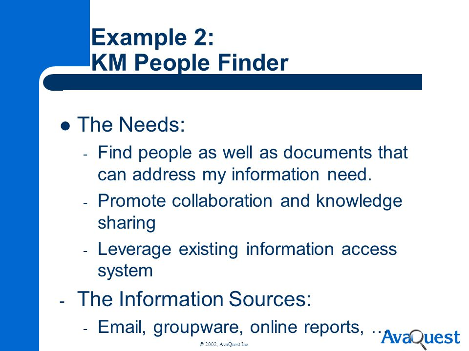 Example 2: KM People Finder