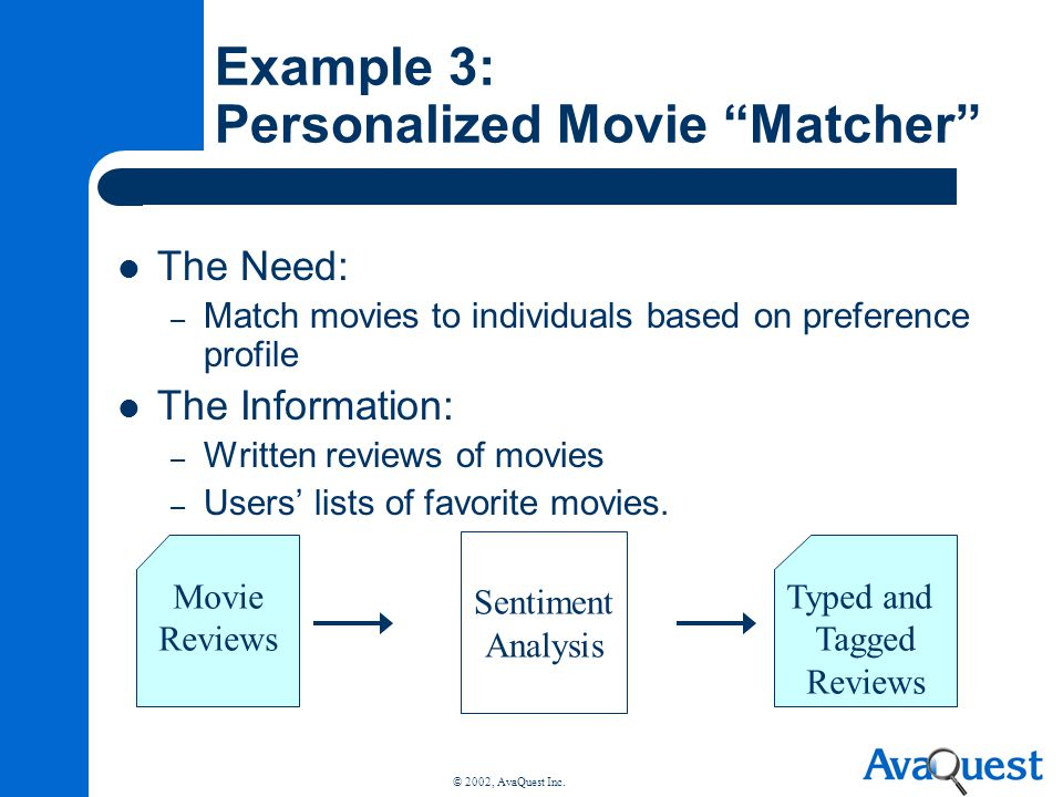 Example 3: Personalized Movie Matcher