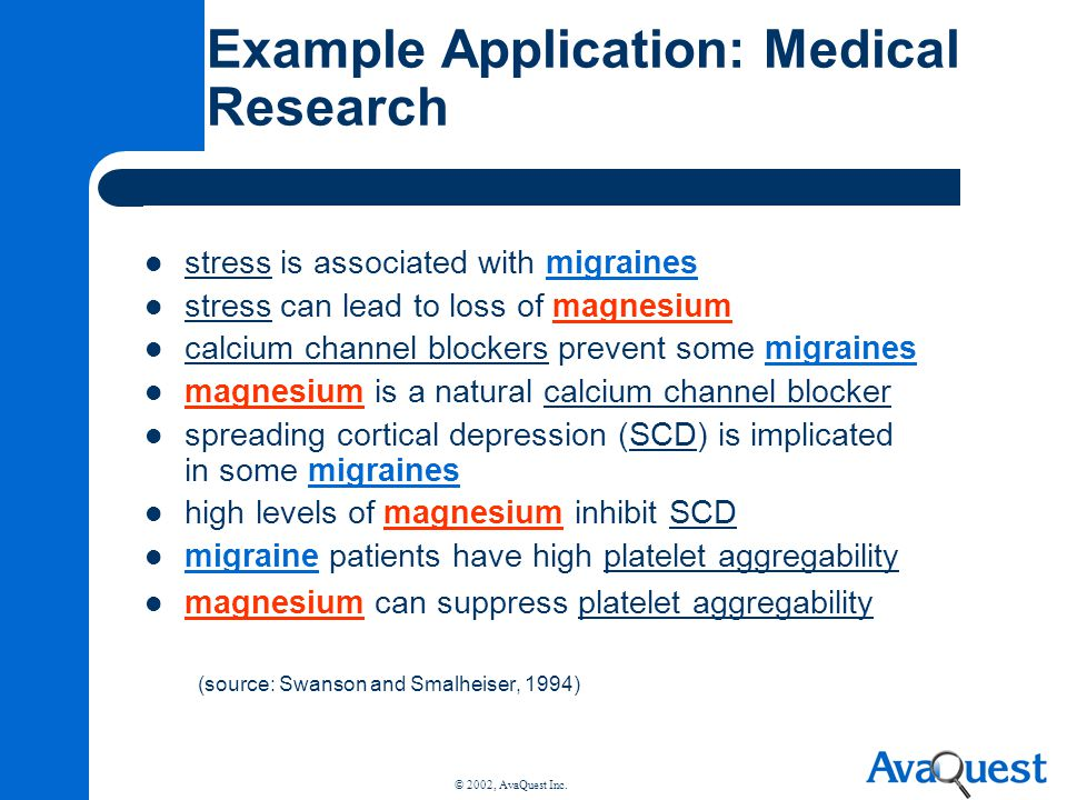 Example Application: Medical Research