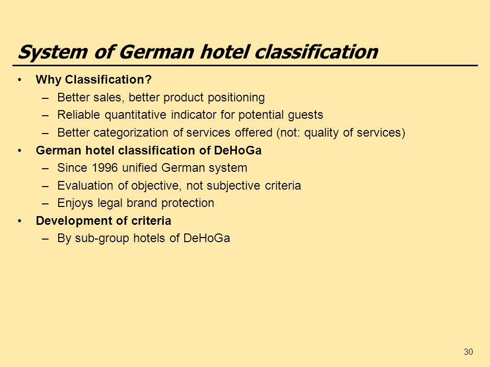System of German hotel classification