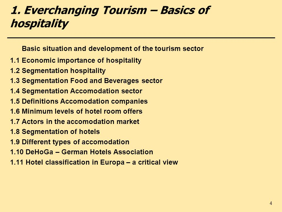 introduction to hospitality and tourism industry pdf