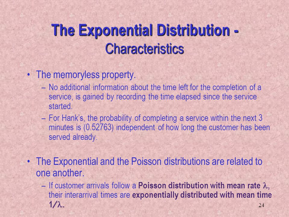 The Exponential Distribution - Characteristics