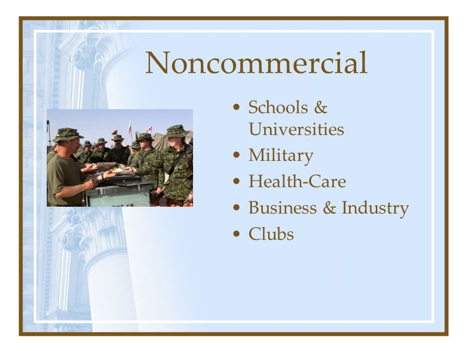 Noncommercial Schools & Universities Military Health-Care