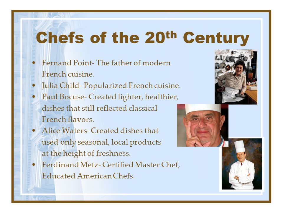 Chefs of the 20th Century Fernand Point- The father of modern