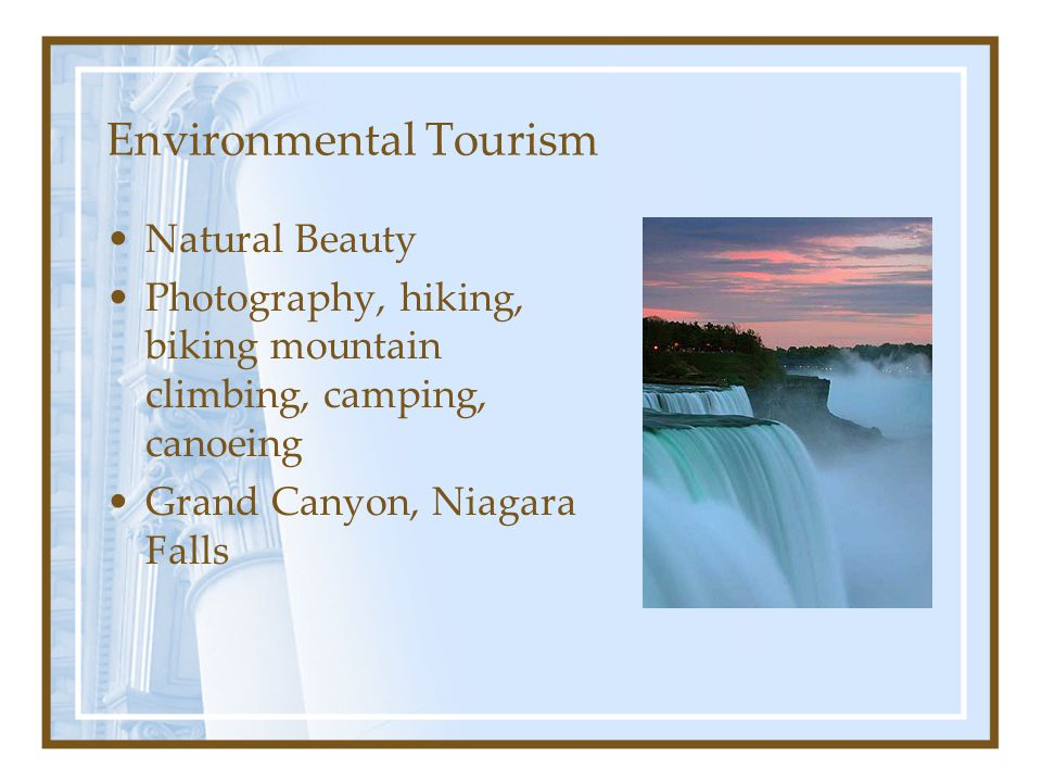 Environmental Tourism