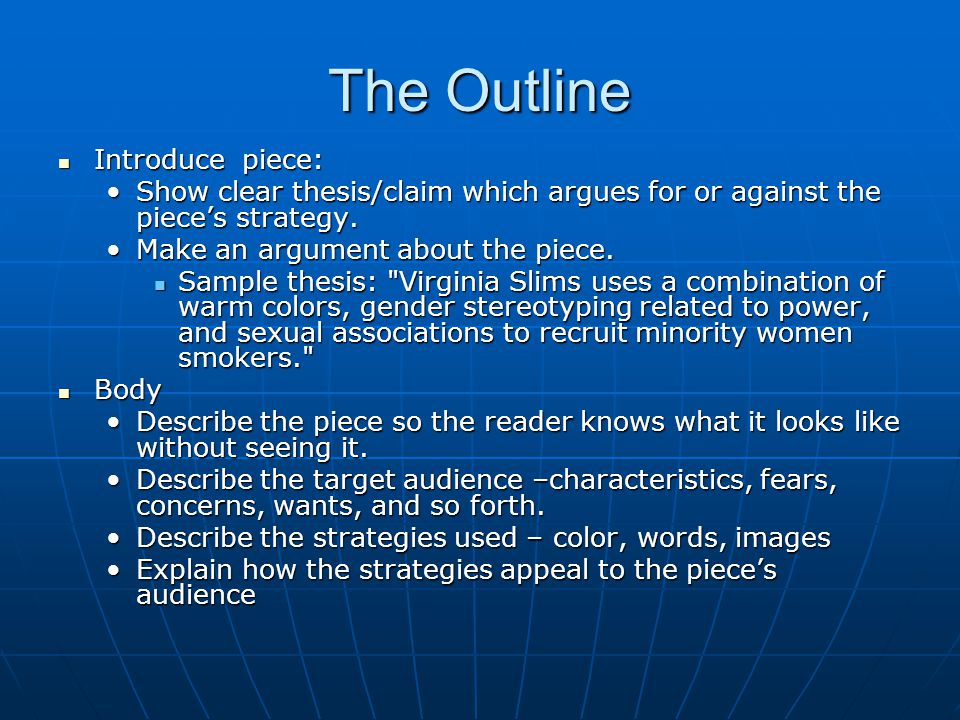 The Outline Introduce piece:
