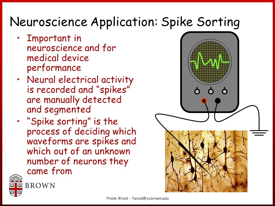 Neuroscience Application: Spike Sorting