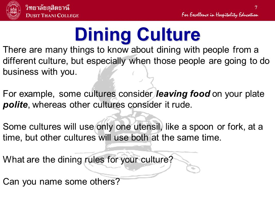Dining Culture