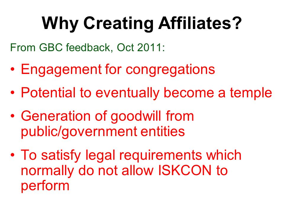 Why Creating Affiliates