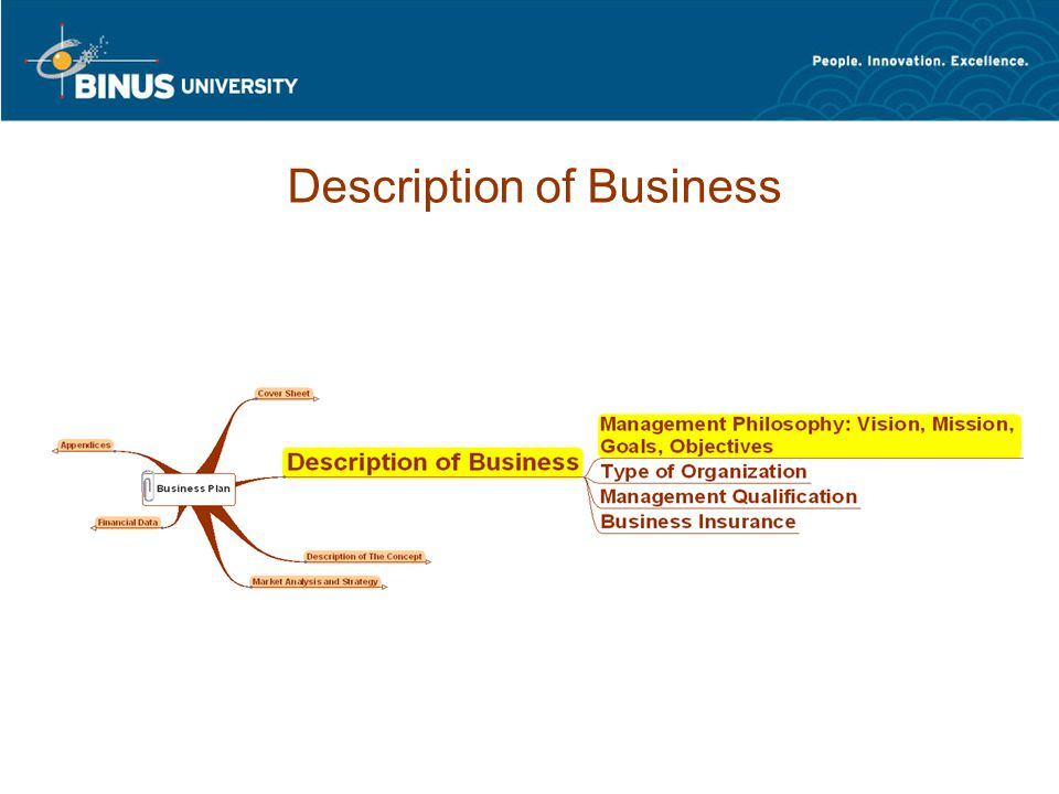 Description of Business